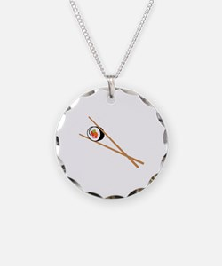 Sushi And Chopsticks Necklace