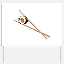 Sushi And Chopsticks Yard Sign