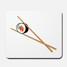 Sushi And Chopsticks Mousepad
