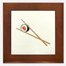 Sushi And Chopsticks Framed Tile