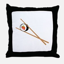 Sushi And Chopsticks Throw Pillow
