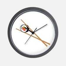Sushi And Chopsticks Wall Clock