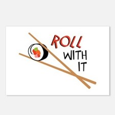 ROLL WITH IT Postcards (Package of 8)