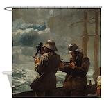 Wilmslow Homer Fog Warning Shower Curtain