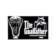 Lacrosse Goalfather Aluminum License Plate