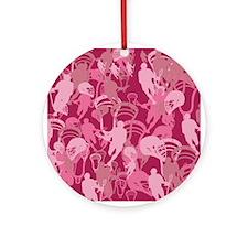 Lacrosse Camo Pink 20XX Ornament (Round)