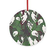 Lacrosse Camo Green 20XX Ornament (Round)