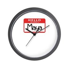 Hello Maya Wall Clock