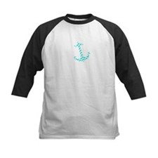 Aquamarine Broken Chevron Pattern Anchor Baseball
