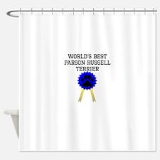Worlds Best Parson Russell Terrier Shower Curtain