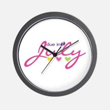 Due in July Wall Clock