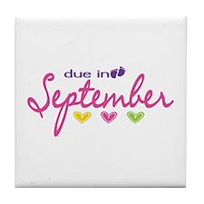 Due in September Tile Coaster