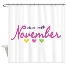Due in November Shower Curtain