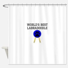 Worlds Best Labradoodle Shower Curtain