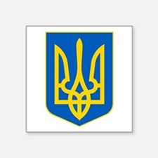 "Ukraine Coat of Arms Square Sticker 3"" x 3"""
