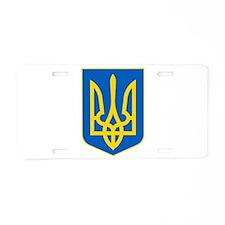 Ukraine Coat of Arms Aluminum License Plate