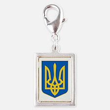 Ukraine Coat of Arms Silver Portrait Charm