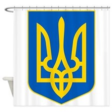 Ukraine Coat of Arms Shower Curtain