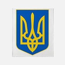 Ukraine Coat of Arms Throw Blanket