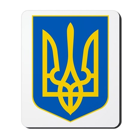 Ukraine Coat of Arms Mousepad