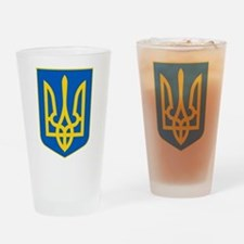 Ukraine Coat of Arms Drinking Glass