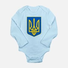 Ukraine Coat of Arms Long Sleeve Infant Bodysuit