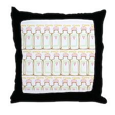 Sweet hand soap bottle Throw Pillow