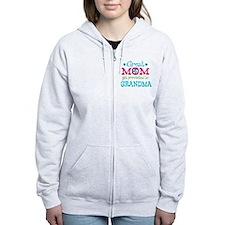 Great Mom Promoted to Grandma Zip Hoodie