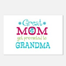 Great Mom Promoted to Grandma Postcards (Package o