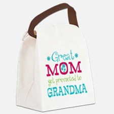 Great Mom Promoted to Grandma Canvas Lunch Bag