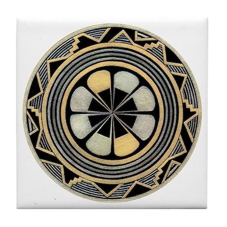 MIMBRES ROSE BOWL DESIGN Tile Coaster