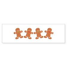 Gingerbread Cookies Border Bumper Bumper Sticker