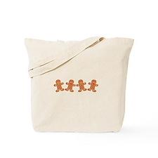 Gingerbread Cookies Border Tote Bag