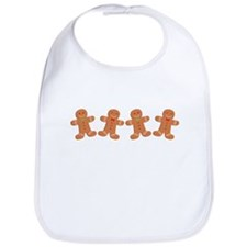 Gingerbread Cookies Border Bib