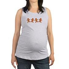 Gingerbread Cookies Border Maternity Tank Top