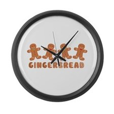 GINGERBREAD Large Wall Clock