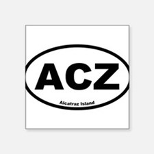 Alcatraz Island Oval Sticker
