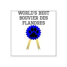 Worlds Best Bouvier des Flandres Sticker