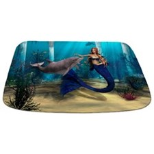 Mermaid and Dolphin Bathmat
