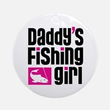 Daddy's Fishing Girl Ornament (Round)