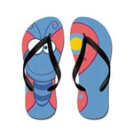 Colorful Butterfly Flip Flops