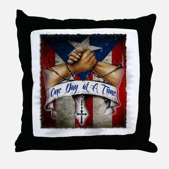 OnedayatatimePR Throw Pillow