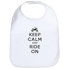 Keep Calm Ride On Bib