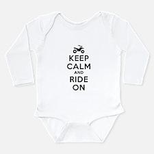 Keep Calm Ride On Long Sleeve Infant Bodysuit