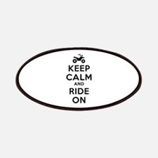 Keep Calm Ride On Patches
