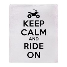 Keep Calm Ride On Throw Blanket