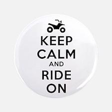 "Keep Calm Ride On 3.5"" Button"