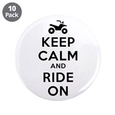 "Keep Calm Ride On 3.5"" Button (10 pack)"