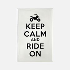 Keep Calm Ride On Rectangle Magnet