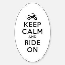 Keep Calm Ride On Sticker (Oval)
